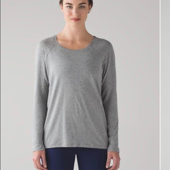 Lululemon Emerald Long Sleeve Grey sz 6